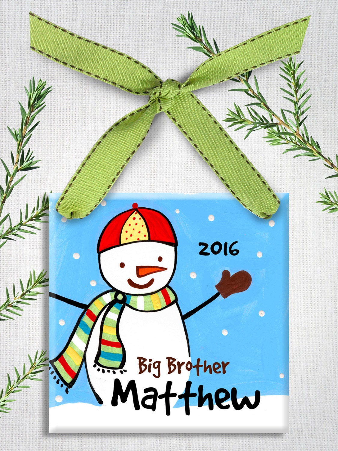 New baby ornaments - Big Brother Ornament Big Brother Gift Personalized Christmas Ornament New Baby Ornament