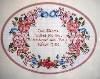 Anniversary Wreath By Navina Capecci And Needle Treasures Cross Stitch Kit Undated