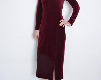 Velvet midi dress | Etsy