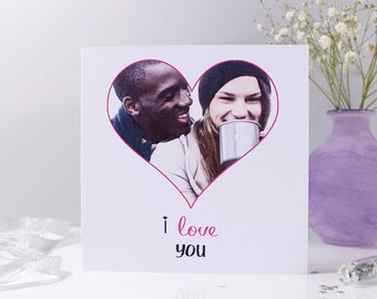 Photo Anniversary Card - Personalised anniversary Card - Photo Card - Love You Card - Paper Anniversary - Wedding Photo Card