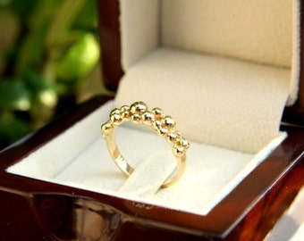 Gold Wedding Band, Gold Bubble Ring, Gold Wedding Jewelry, Gold Statement Jewelry, Statement Ring, Gold Bubble Jewelry