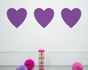 Hearts Wall Stickers - Decals - Wall Tattoo - Wall Art - Wall Quote - Home Decor - Wall Decor - Wall Decals - Hearts - Love - Wall Stickers