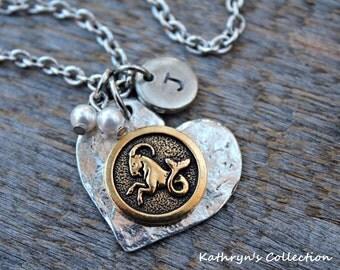 Capricorn Necklace, Zodiac Sign Necklace, Zodiac Jewelry, Capricorn Jewelry, Astrology