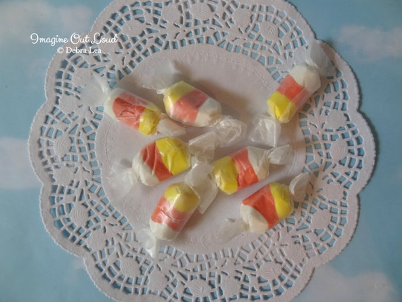 Fake Candy Faux Candies Halloween Candy Corn Salt Water Taffy Bowl Fillers Display Food Prop Decor
