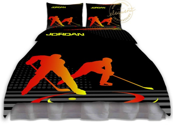 Items Similar To Hockey Bedding Hockey Duvet Cover Boys