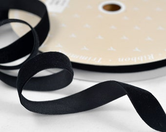"BLACK Velvet Ribbon, 5/8"" by 20 Yards, SP-2380"