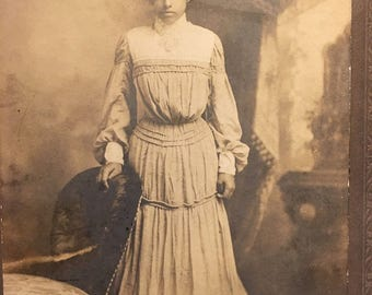 Pretty Identified African American Woman Antique Cabinet Photo