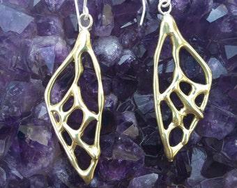 Butterfly Wing Earrings in Bronze