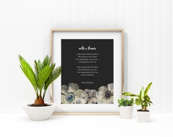 Love Poem Printable Romantic Floral Poetry Print Saying Home Office Decor
