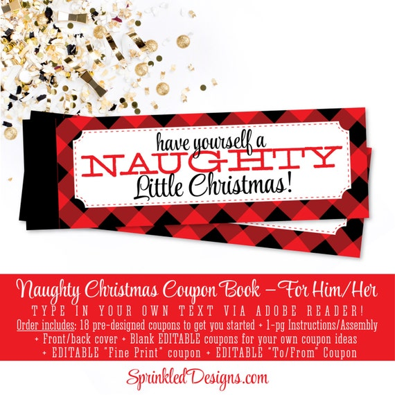 Christmas Naughty Coupon Book Sexy Christmas Gifts For