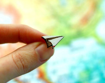 Paper Plane Stud Earrings -  Paper Plane Jewelry.