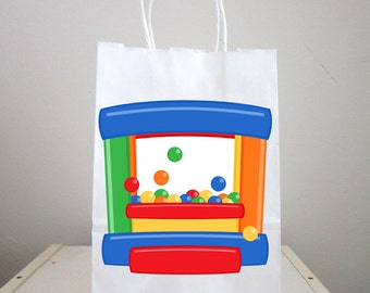 Bounce Party Goody Bags, Bounce Party Favor Bags, Bounce Party Gift Bags, Ball Pit, Jumping
