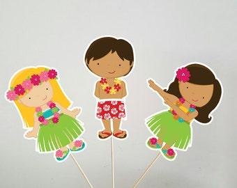 Luau Centerpieces, Luau Party, Luau Birthday, Hawaii Centerpieces, Tiki Party Centerpieces