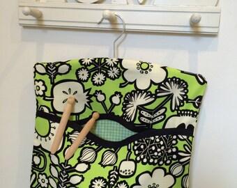 Peg Bag Bright Green Floral