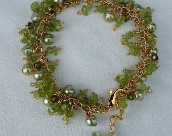Peridot Gemstones and Freshwater Pearls