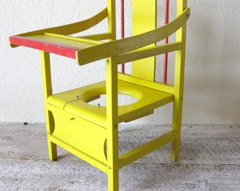 Antique Wood Child's Potty Chair ~ Planter