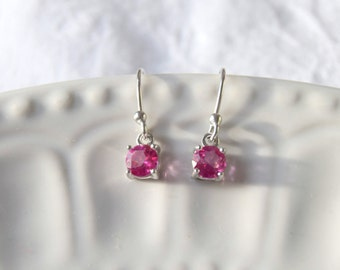 Sterling Silver Purple Amethyst earrings, Gift for her, Gemstone earrings, Purple earrings, February birthstone earrings