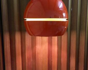 HUGE Sonneman Retro Orange Egg Pendant Light Mid Century Modern Hanging Lamp