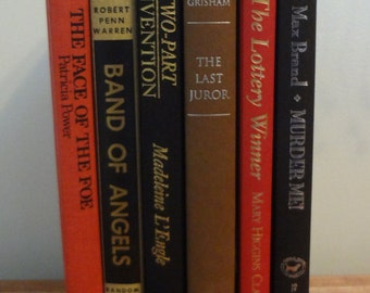 Red, Black and Tan Book Bundle Set of SIX (6) BOOKS for and Instant Library or Prop