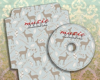 RELAX music - Printable CD/DVD Label & Cover Download Digital Collage Sheet  - Print and Cut