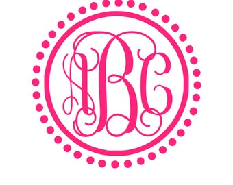 Car Monogram Etsy - Monogram decal on car