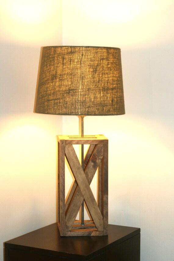 rustic geometric lamp rustic wooden lamp by appalachianartisans. Black Bedroom Furniture Sets. Home Design Ideas
