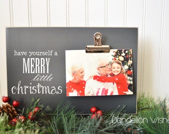 Have Yourself A Merry Little Christmas Picture Frame, Holiday Decor, Christmas Gift Photo Frame, Christmas Centerpiece, Holiday Table Decor