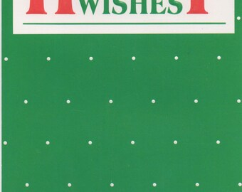 Christmas Card, Used  Holiday Wishes, c1989, good shape