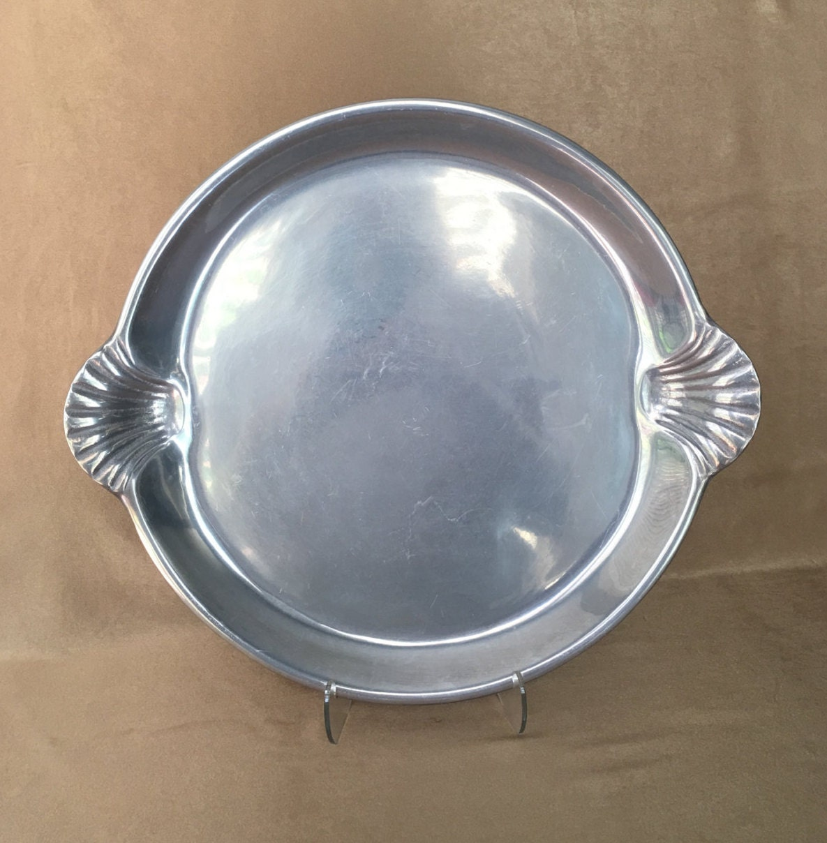 Wilton Pewter Tray Scallop Shell Tray Large Round Platter