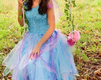 Adult  fairy Costume~ Halloween  ~ Carnival ~ Mardi Gras ~ Masquerade ~ Party Dress ~ Theatre