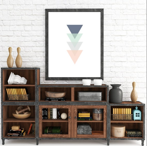 Minimalist Wall Art, Scandinavian, Triangle Print, Geometric Print, Modern Art Print, Home Decor, Abstract Wall Art Print, Triangles Art