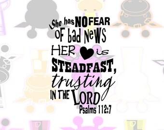 Psalms 112:7 SVG, BIble Verse SVG