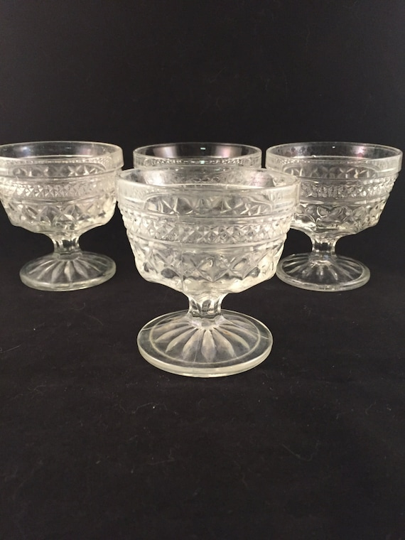 Vintage wexford cut glass dessert glasses set of 4 How can i cut glass at home