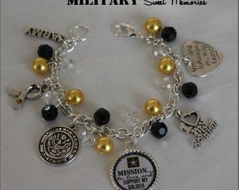 ARMY Wife, Girlfriend, Love My Soldier Bracelet