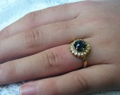 GREEN SAPPHIRE and DIAMOND halo engagement ring, unique sapphire alternative engagement ring, huge Australian sapphire, conflict free gems