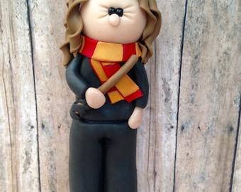 Hermione Ornament, Hermione Granger, Hermione Caketopper , Hermione Christmas ornament, Hogwarts Christmas ornament, Christmas ornament