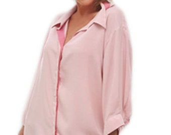 Plus Size Clothing | Women's Classic Shirt | 3/4 sleeve | Plus Sizes for Full Figure Women