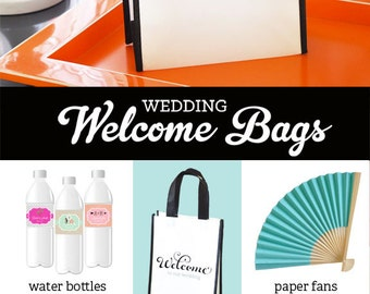 Wedding Welcome Bags Destination Welcome Bags Wedding Hotel Welcome Bag Out of Town Welcome Bags OOT Out of Town Gift Bags (EB2400) 12| bags