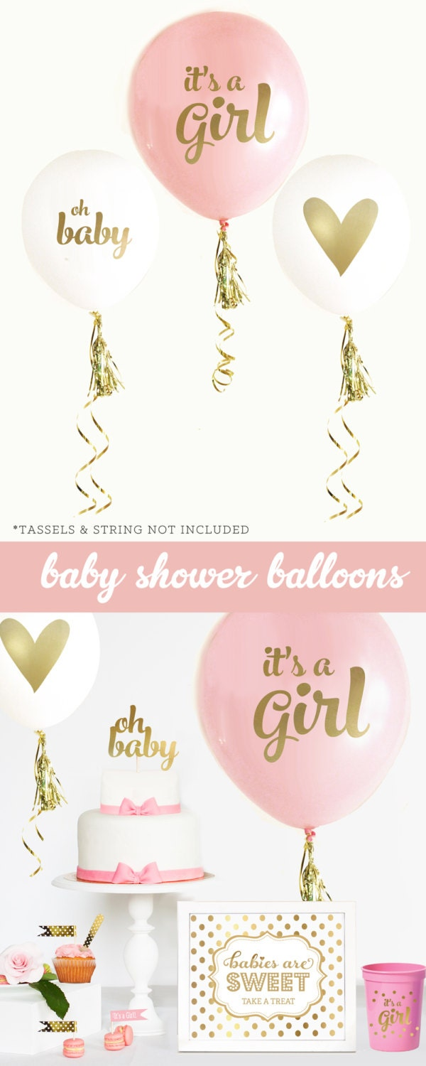 Baby shower balloons oh baby balloons its a girl sign for It s a girl dekoration