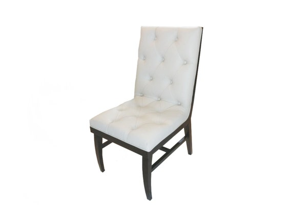 Robyn zebra wood tufted dining chair accent chair desk chair