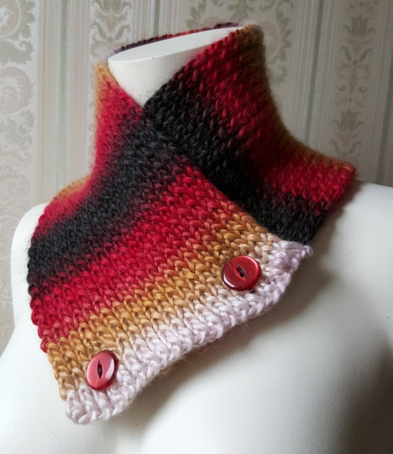 self striping neckwarmer