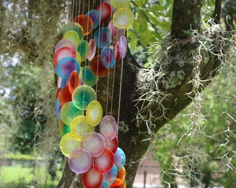Rainbow Capiz Shell Wind Chime