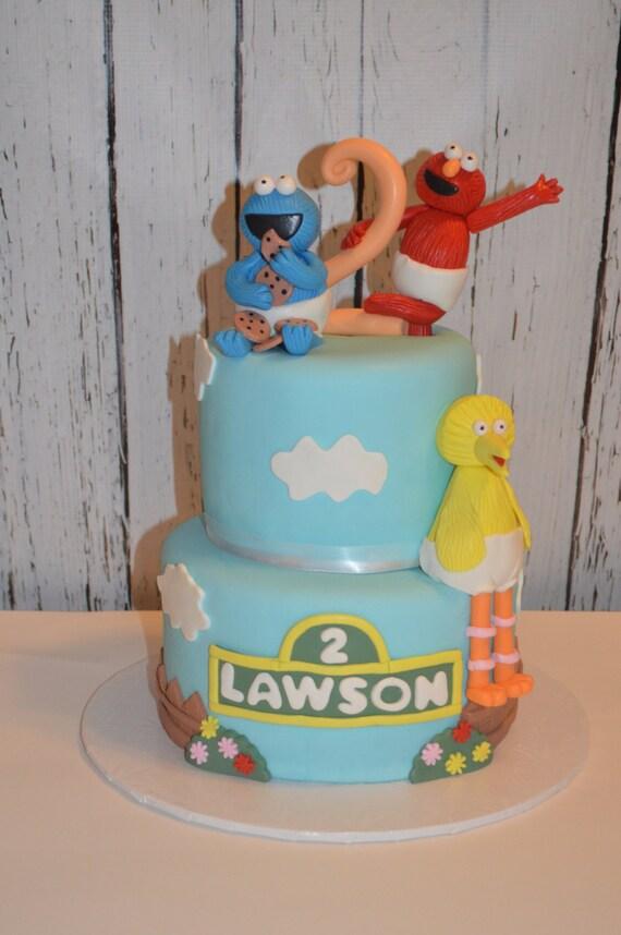 Cake Decorating Sesame Street Birthday : Sesame Street Fondant Cake Decorations sesame street cake