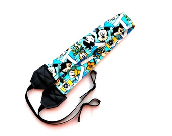 Mickey Mouse with Pluto and Donald Polaroids, dSLR Complete Camera Strap! Standard Size! Great for a trip to Disney!