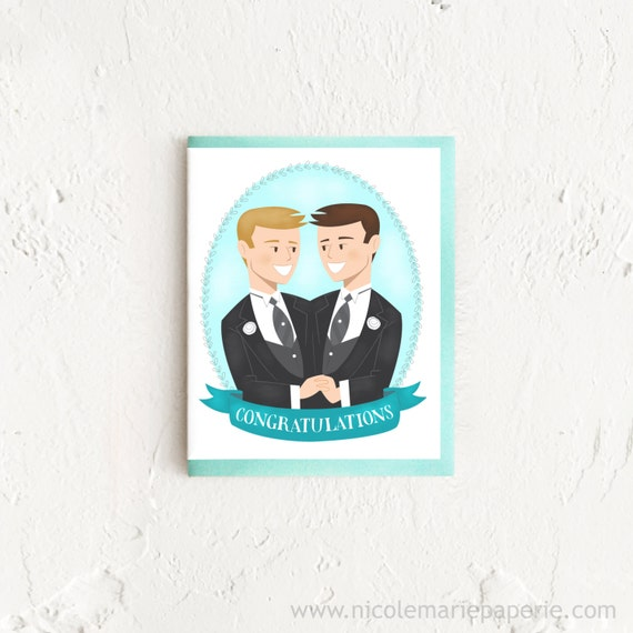 ... Gay Wedding Gift, Newly Wedded Couple, Card for Gay Wedding, Card for
