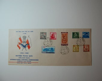 INDIA-International Control Commissions-1968-Dual overprint Covers-