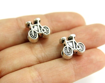 Bicycle Charms, 25 pcs Antique Silver Bicycle Slider Charms, Silver Bicycle Metal Charm, Silver Bicycle Charms, Bicycle Charms