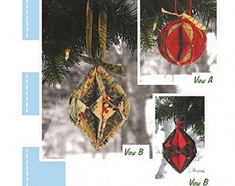 Fold'N Stitch Holiday Ornaments by Poorhouse Quilt Designs; PQD-196; Christmas Project, Holiday Decor, Christmas Ornaments; Sewing, Decor