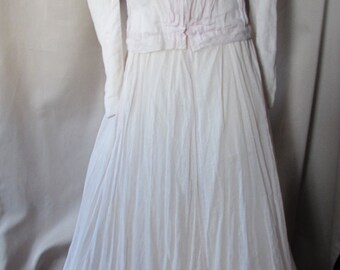 Victorian Era Outfit Edwardian Era Outfit Young Girl Dress Pink Cotton Top Skirt Vintage Fashions Ladies Fashions Vintage Summer Dress