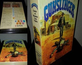 Vintage Board Game - GUNSLINGER - Game Of Western Gunfights - Bookshelf Board Game ~ Complete, Almost Unpunched /Like New Condition!